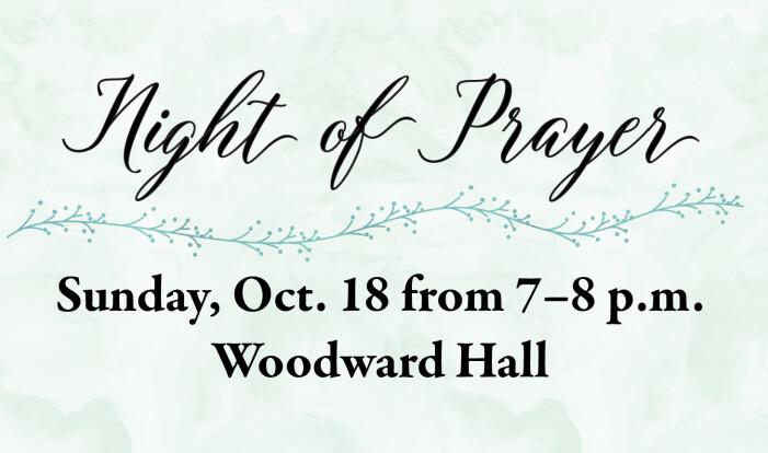 Night of Prayer - Oct 18 2015 7:00 PM