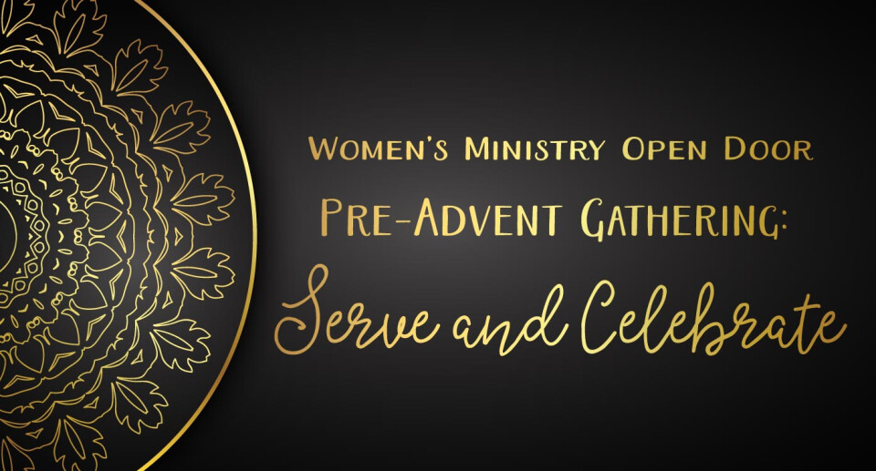 Open Door Pre-Advent Gathering: Serve and Celebrate!