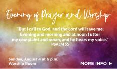 evening of prayer and worship